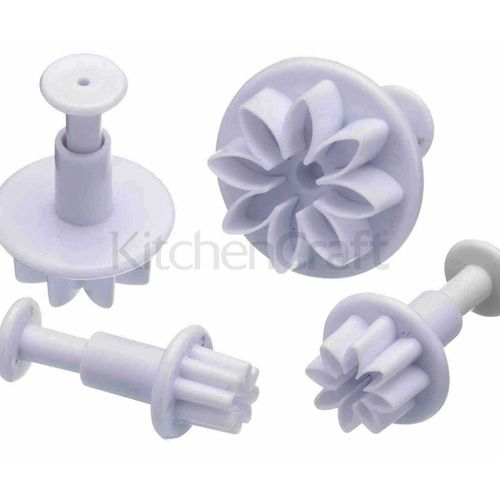 Kitchen Craft Fondant-Stempel, Daisy, 4er Set, 1,3 - 3,5 cm  MEINCUPCAKE Shop