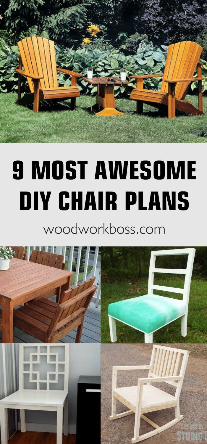 How to Build a Chair: Best Wooden Chair Plans / Ideas for DIY Chair Plans / Best Simple DIY Outdoor Chair Plans / Adirondack Chair Plans /