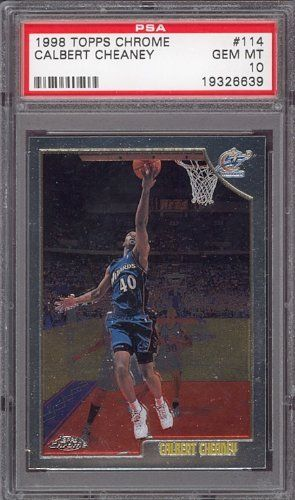 1998 Topps Chrome #114 Calbert Cheaney PSA 10 pop 1 by Topps. $6.00. 1998 Topps Chrome #114 Calbert Cheaney PSA 10 pop 1. If multiple items appear in the image, the item you are purchasing is the one described in the title.
