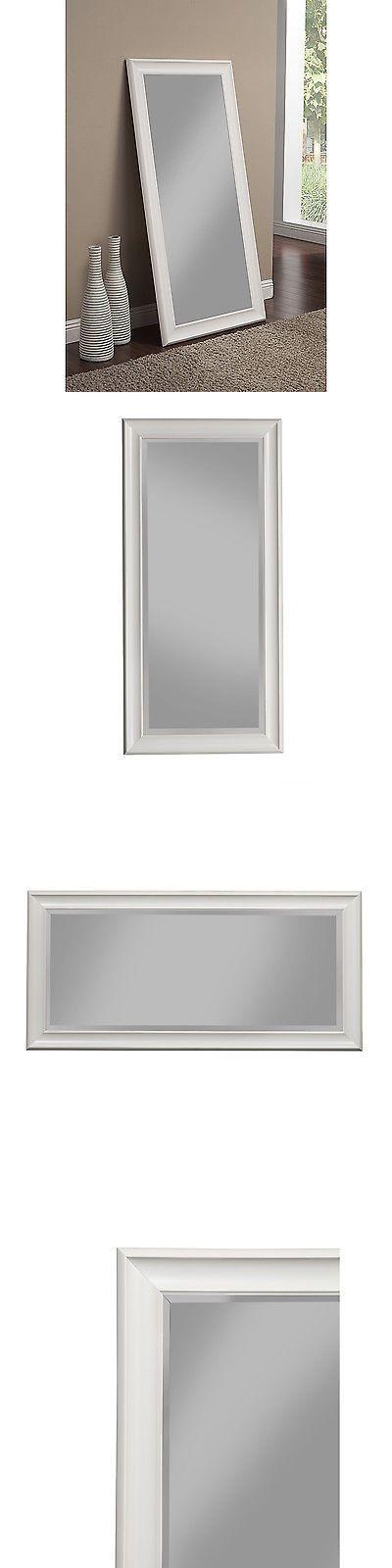 Mirrors 20580: Full Length Mirror Leaning Or Hanging Floor Dressing Leaner Modern White Frame -> BUY IT NOW ONLY: $171.15 on eBay!