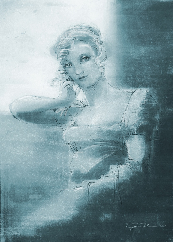 "A new take on the sketch I did of  ""Emma"" inspired by Jane Austen and Bougereau. #art #illustration #digital: Sketch, Art Illustrations, Illustrations Digital"