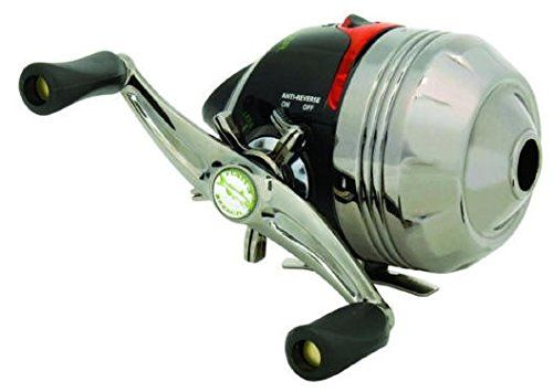 ZEBCO HAWG SEEKER SPINCAST REEL WITH ELECTRONIC BITE ALERT. CORROSION RESISTANT COMPONENTS. HIGH-STRENGTH GEAR SYSTEM. OVERSIZED POWER TORQUE HANDLE. RIGHT/LEFT HAND RETRIEVE. WIDE RANGE POWER TRAIN DRAG.