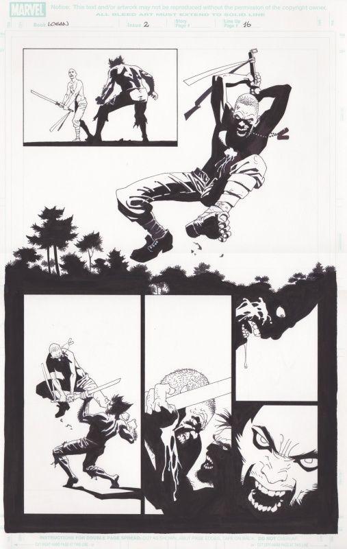 Wolverine: Logan #2 par Eduardo Risso, Brian K. Vaughan - Planche originale