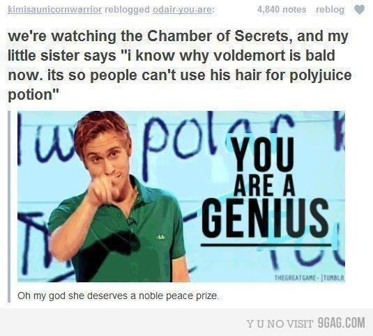 I know why Voldemort is bald - Imgur