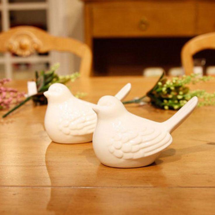 Европейский и Американский стиль Керамические Украшения Рабочего Стола Реальность Птица Формы Керамические Ремесла Популярные Подарки Для Друзей/Детей/Новый год