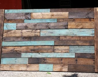 Queen twin size king full planked wood headboard by 302WoodWorks