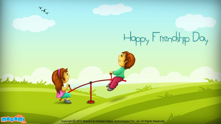 Happy Friendship Day Wallpaper - 03 - Desktop Wallpapers | Mocomi Kids
