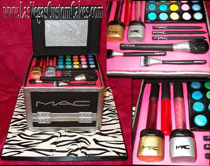 mac makeup case cake Make up cake, Las vegas custom