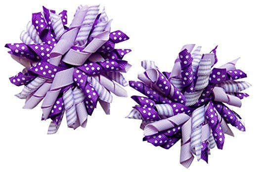 So Sydney Pair of Large Korker Ribbon Bow Ponytail Hair Pinch Clips Review