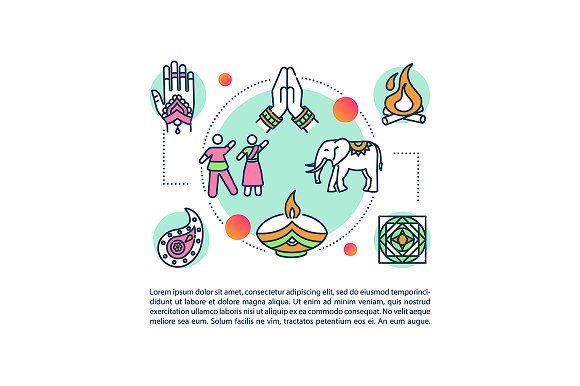 Indian Customs And Traditions Icon Graphic Designer Portfolio Booklet Design Indian Customs