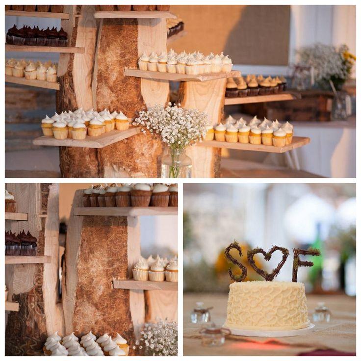 tree stump cupcake stand mini cupcakes wedding wedding. Black Bedroom Furniture Sets. Home Design Ideas