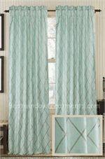 Good Axis Embroidered Diamond Silk Curtain Panel | Best Window Treatments