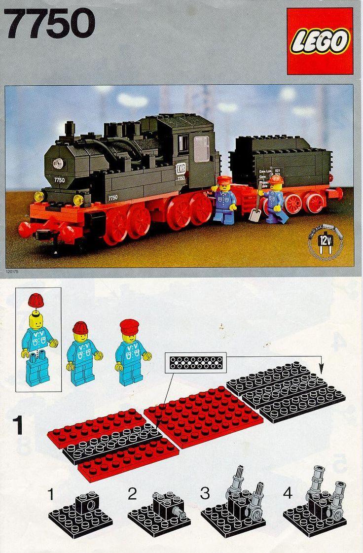 Old Lego Instructions/Train set