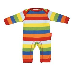 Stripy Multi Coloured Playsuit | Unisex Baby Clothes
