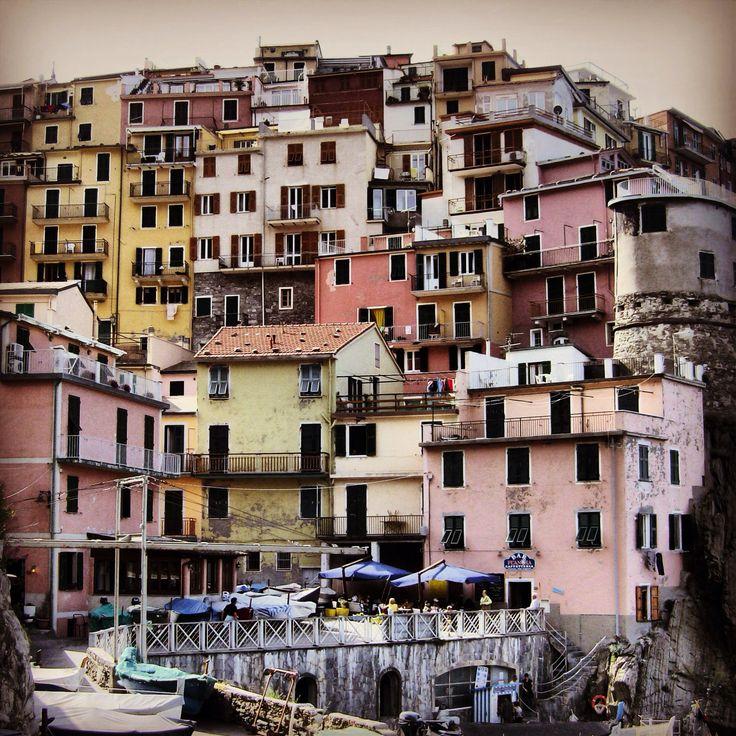 Walking in the Cinque Terre .