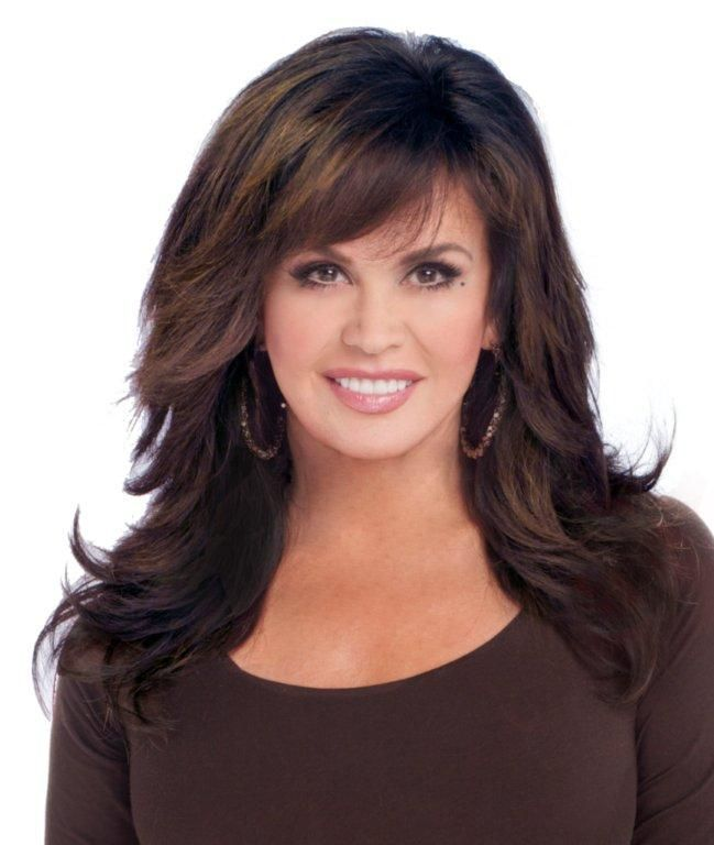 Marie Osmond Hairstyles Feathered Layers