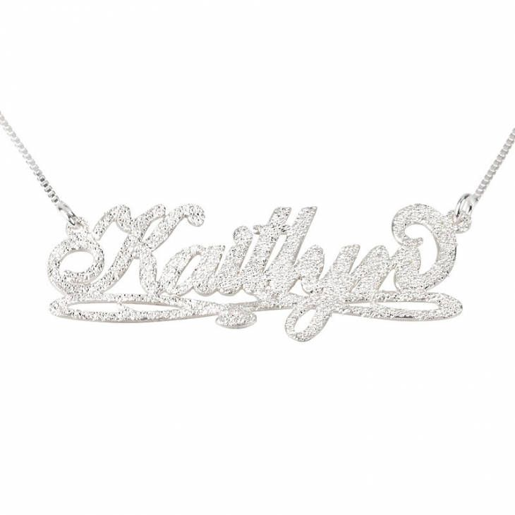 Excited to share the latest addition to my #etsy shop: Bianca Line Sparkling Name Necklace Sterling Silver 925 - Custom Name Necklace - Personalized Name Jewelry - Christmas Gift http://etsy.me/2AExT3T #jewelry #necklace #silver #no #women #yes #stainlesssteel #hook #female