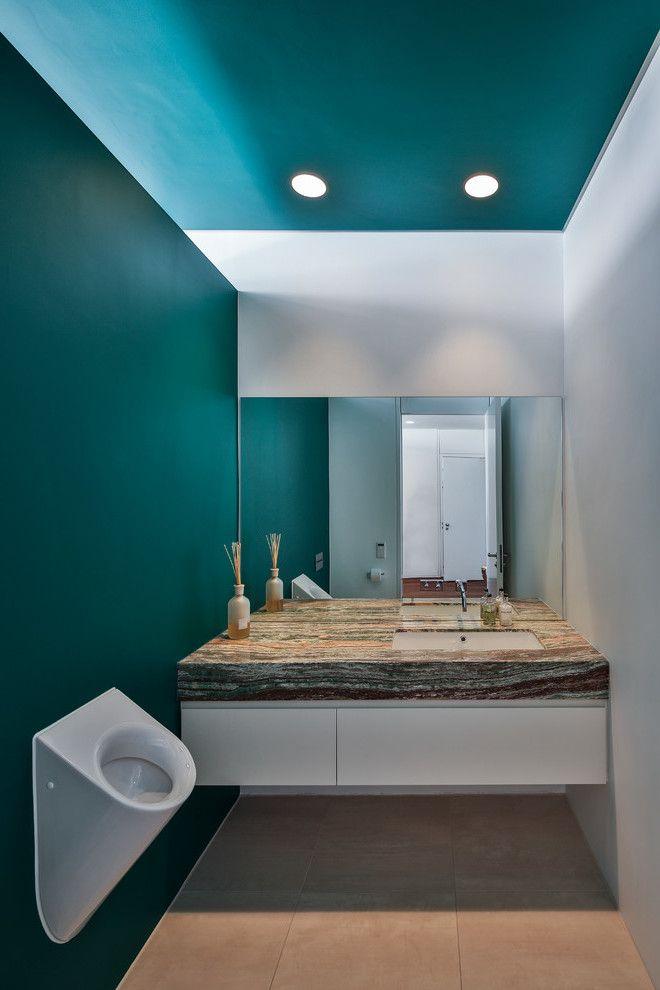 Wandfarbe Badezimmer Petrol