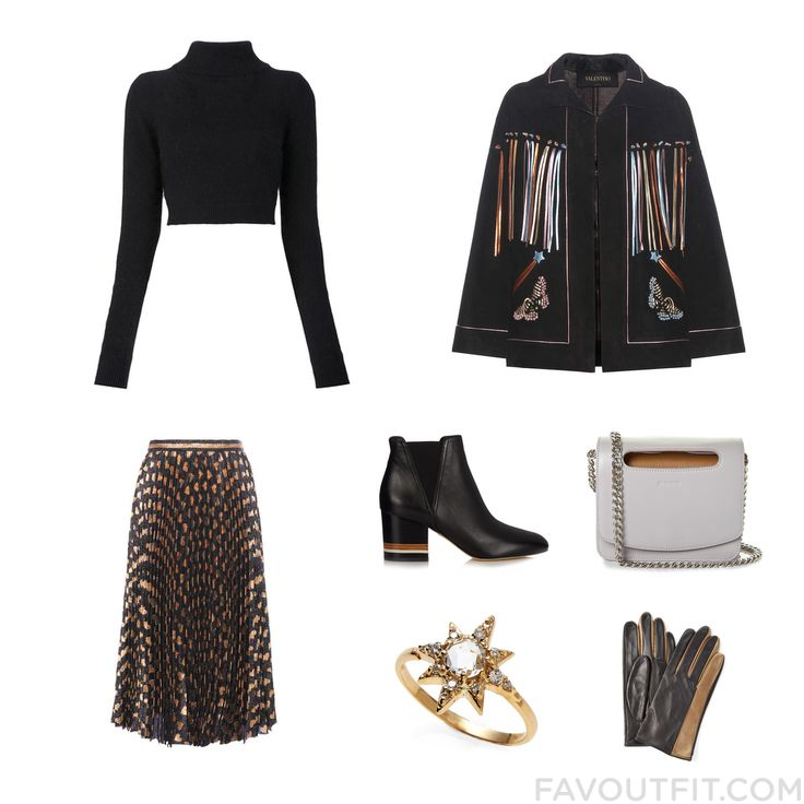 Fashion Mix With Balmain Sweater Valentino Jacket Gucci Skirt And Leather Booties From November 2016 #outfit #look