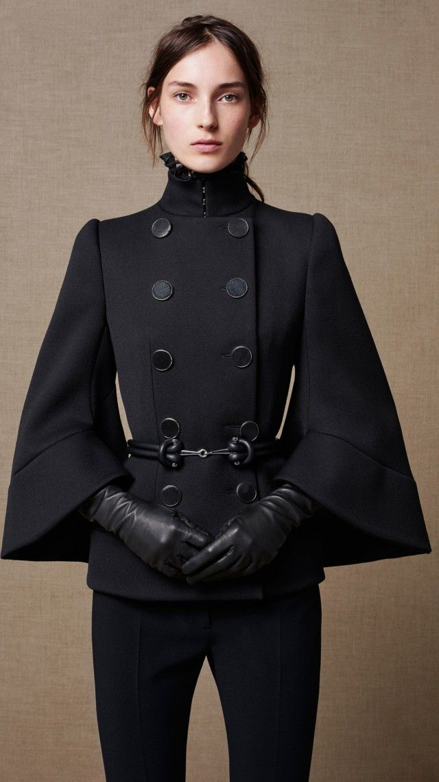 All black everything. I love this look. ALEXANDER MCQUEEN WOMENSWEAR AUTUMN/ WINTER 2015                                                                                                                                                                                 More