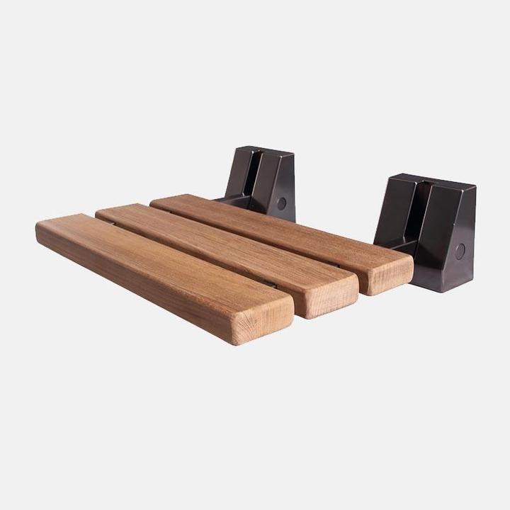Calva Wall Mount Teak Folding Shower Seat In 2020 Shower Seat