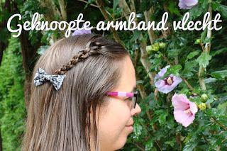 Miriam's Vlecht Lessen (Miriam's braiding instructions): Geknoopte armband vlecht // Knotted bracelet braid...