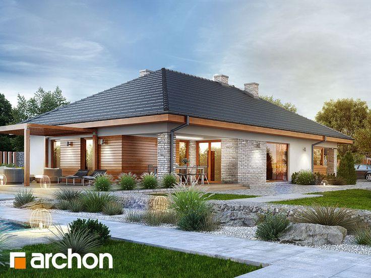 Dom w modrzewnicy 2 (G2A) - atrakcyjna, nowoczesna parterówka z garażem dwustanowiskowym