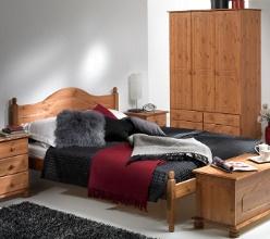 Copenhagen pine bedroom furniture set