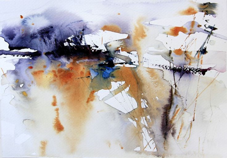Abstract watercolour landscape by Adrian Homersham