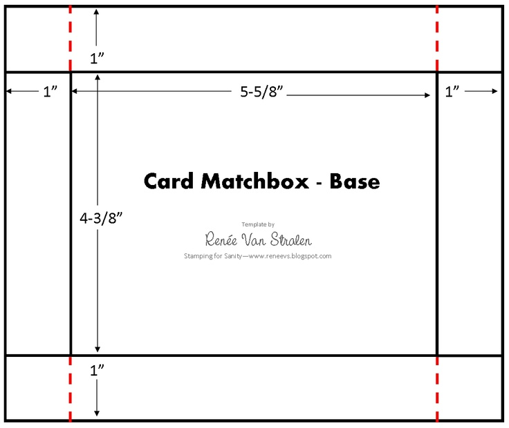 Card Matchbox Template