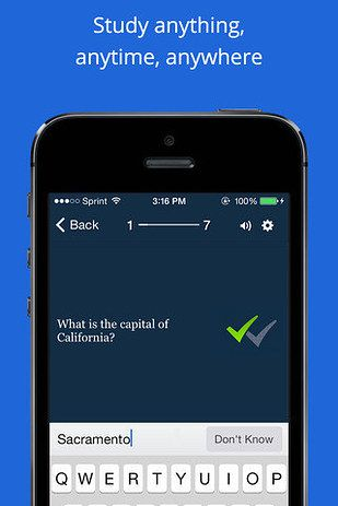 Quizlet, use it to make Spanish to English flashcards