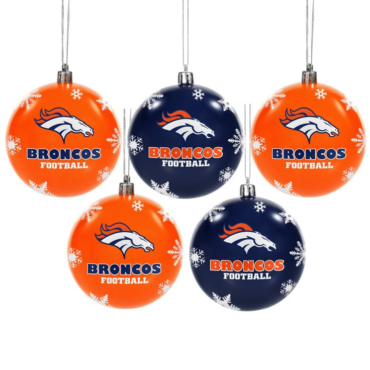 Forever Collectibles Denver Broncos 2016 NFL Shatterproof Ball Ornaments