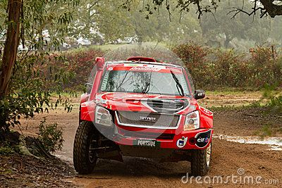 PORTALEGRE, PORTUGAL - NOVEMBER 3: Rui Sousa drives a Isuzu D-Max in BAJA 500, integrated on FIA World Cup for Cross-Country Rallies, in Portalegre, Portugal on November 3, 2012.