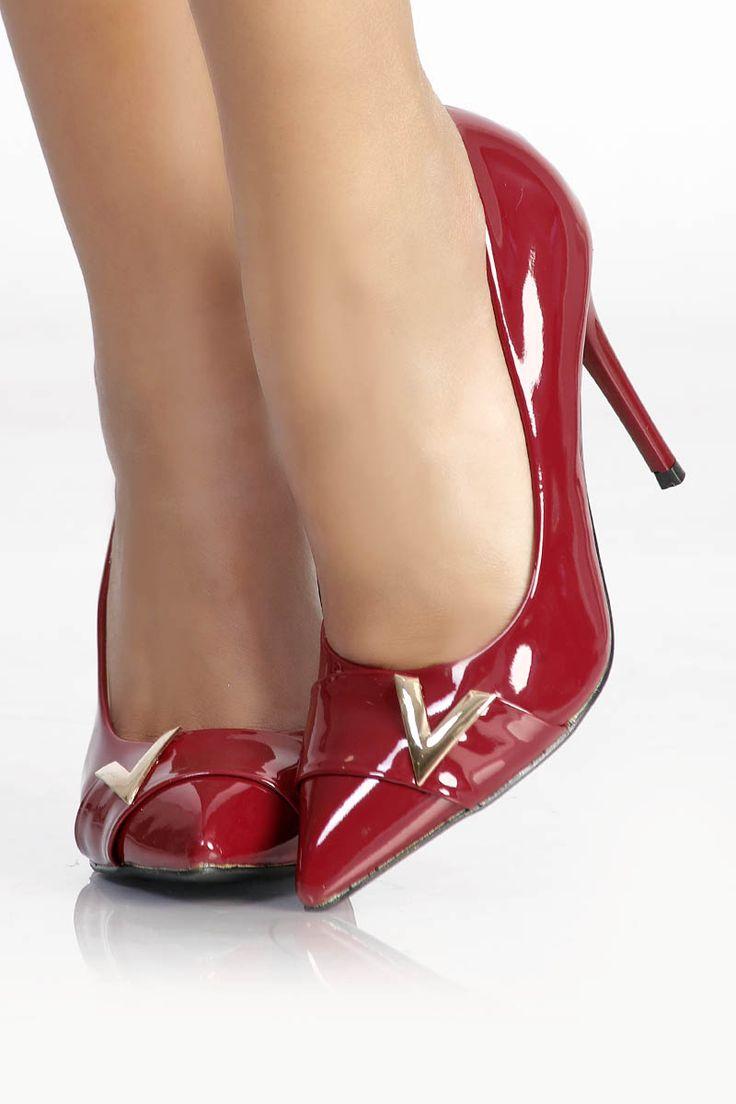 Escarpin rouge vernis pas cher et sexy