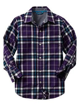 Purple plaid shirt | Gap