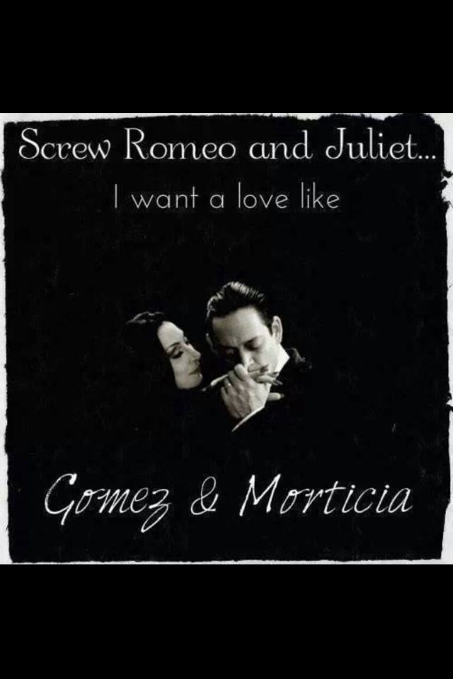 morticia and gomez addams relationship poems