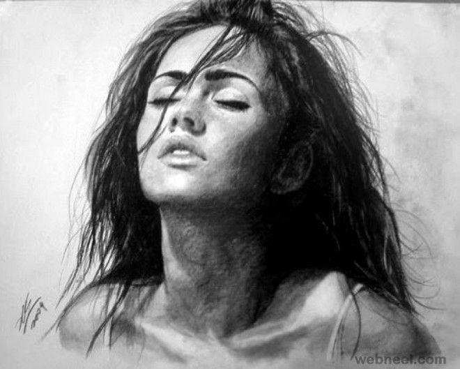 Risultati immagini per charcoal drawing