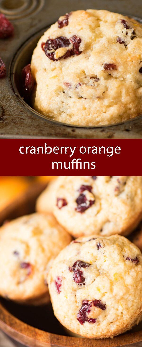 cranberry orange muffins / muffins recipe / freezer muffins / breakfast / dried cranberries / orange zest / make ahead muffins  via @tastesoflizzyt