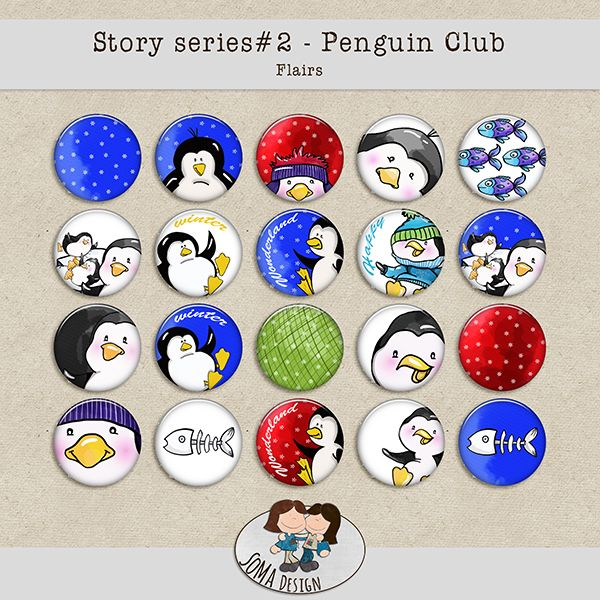 SoMaDesign PenguinClub Flairs