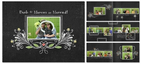 storybook digiscrap a 115 x 85 book heritage makers template 91530 chalkboard