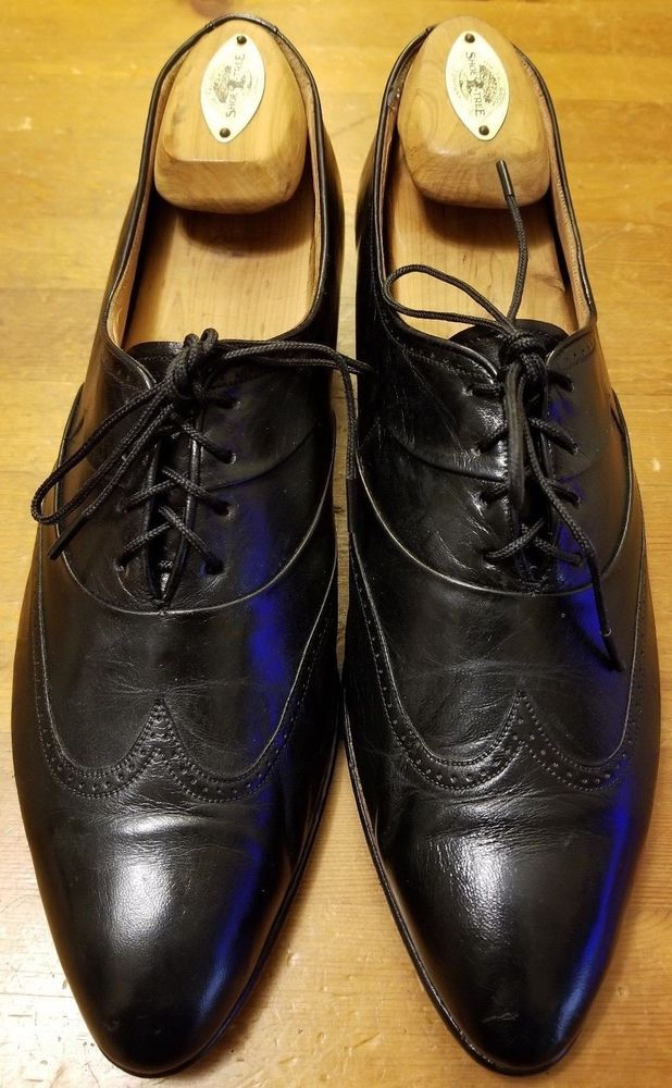 Lavorazione Artigiana Limited Ed Vtg Brown Leather Oxford Dress Shoes Men's 10