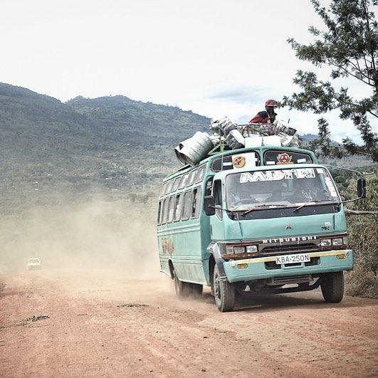 We met this matatu mini bus on a dry country road a couple of years ago when visiting our basket makers. It is dry now in Machakos, but in Nairobi heavy rainclouds have already started gathering in the sky and the air is beginning to smell of rain.