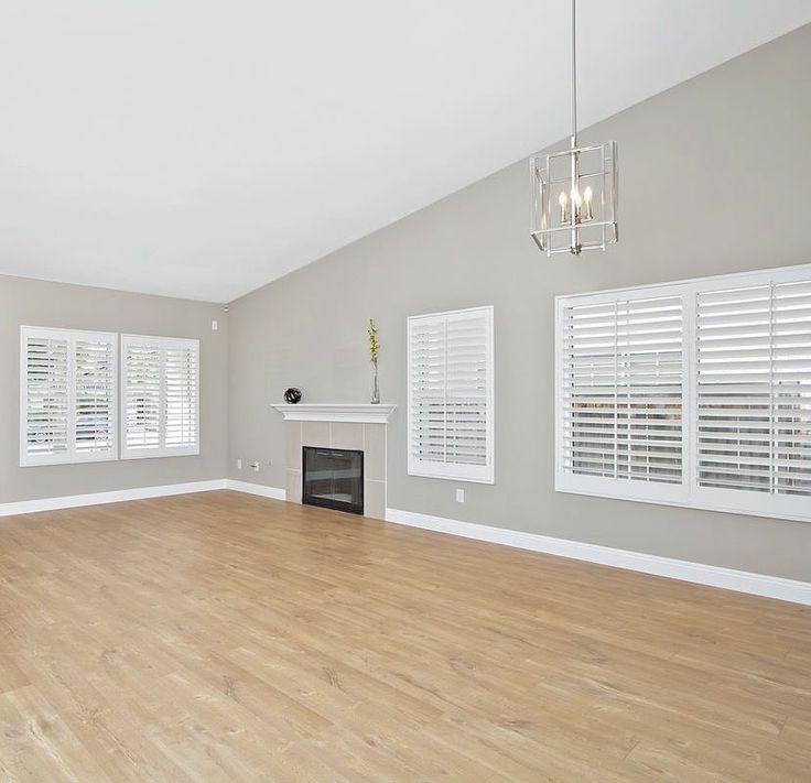 Perfect neutral gray walls, light oak floors, and that ...
