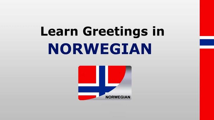 Learn Norwegian - Greetings