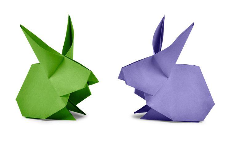 Conejo en origami paso a paso - Las Manualidades