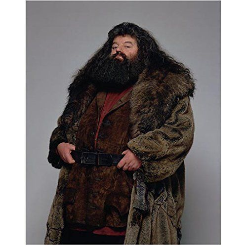 Robbie Coltrane 8 inch x 10 inch PHOTOGRAPH Harry Potter Movies as Rubeus Hagrid Holding onto Belt Turned Slightly Right kn