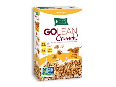 Kashi Go Lean Crunch Honey Almond Flax (Not low in calorie - great taste)