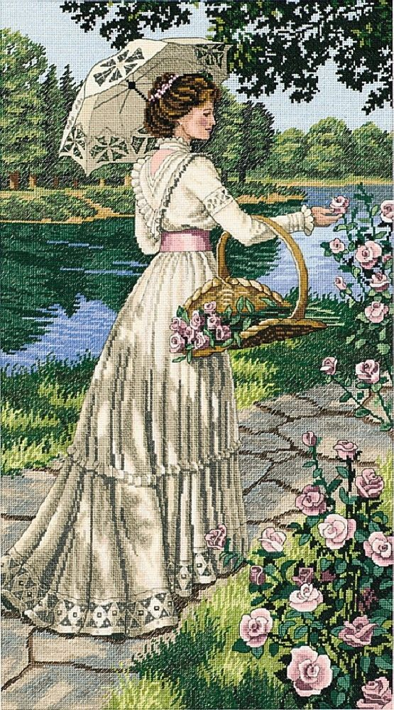 Dimensions Crafts - A Summer Stroll Counted Cross Stitch Kit # 3868