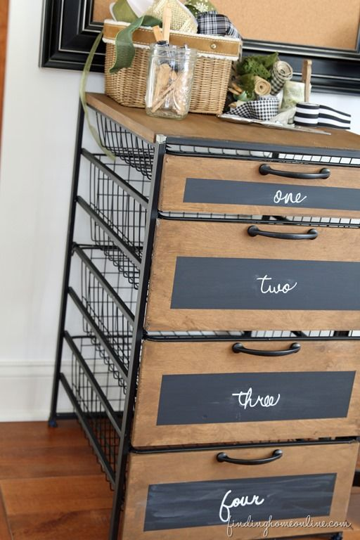 Upcycled Wire Rack >> Ballard Designs Knock Off Craft Room Storage Cabinet (Knocktoberfest!)