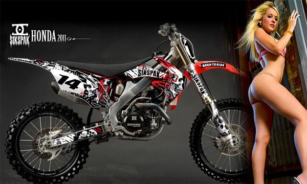 Off Road Motorcycle Graphic Dirt Bike Decal Kit Yamaha Pw 80 Pwu Dmku